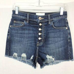 NWT Current/Elliott High Waisted Jean Shorts